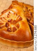 Купить «Русские пироги - кулебяка», фото № 3274680, снято 11 октября 2011 г. (c) ElenArt / Фотобанк Лори