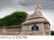 Купить «Сфинкс в парке Тюильри. Париж, Франция», фото № 3274756, снято 4 декабря 2006 г. (c) Jelena Dautova / Фотобанк Лори
