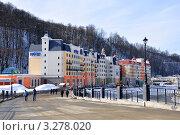 Купить «Отель международной гостиничной сети Park Inn Radisson на курорте Роза-Хутор в Сочи», фото № 3278020, снято 7 февраля 2012 г. (c) Анна Мартынова / Фотобанк Лори