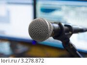 Микрофон на стойке. Стоковое фото, фотограф Антон Ильяшенко / Фотобанк Лори