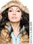 Купить «Портрет девушки в меховом капюшоне», фото № 3282600, снято 27 марта 2010 г. (c) Сергей Сухоруков / Фотобанк Лори