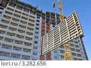 Строительство многоквартирных домов в Брянске (2012 год). Стоковое фото, фотограф Владимир ГОРОВЫХ / Фотобанк Лори