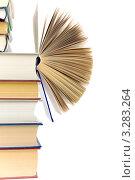 Купить «Стопка книг на белом фоне», фото № 3283264, снято 21 февраля 2012 г. (c) Ласточкин Евгений / Фотобанк Лори