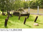 Купить «Советский танк Т-34-76», эксклюзивное фото № 3284044, снято 19 июня 2010 г. (c) Алёшина Оксана / Фотобанк Лори