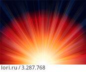 Абстрактный красный закат. Стоковая иллюстрация, иллюстратор Юлия Петрова / Фотобанк Лори