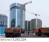 Строительство офисного здания (2012 год). Редакционное фото, фотограф Татьяна Иванова / Фотобанк Лори