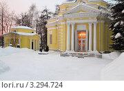 Купить «Троицкий храм в Павлино (Троицкое-Кайнарджи)», эксклюзивное фото № 3294724, снято 19 февраля 2012 г. (c) Дмитрий Неумоин / Фотобанк Лори