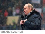 Купить «Владимир Путин», эксклюзивное фото № 3297128, снято 23 февраля 2012 г. (c) Владимир Катасонов / Фотобанк Лори