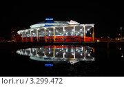 Купить «Вид на арену Мегаспорт ночью», фото № 3299472, снято 18 июня 2019 г. (c) Losevsky Pavel / Фотобанк Лори