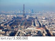 Купить «Вид на Париж и  Эйфелеву башню с высоты птичьего полета», фото № 3300060, снято 4 января 2010 г. (c) Losevsky Pavel / Фотобанк Лори