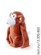 Купить «Забавная детская игрушка: заводная обезьянка», фото № 3300460, снято 28 сентября 2010 г. (c) Losevsky Pavel / Фотобанк Лори