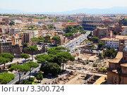 Купить «Панорама с видом на Рим. Колизей, католические церкви и улицы. Италия», фото № 3300724, снято 2 августа 2010 г. (c) Losevsky Pavel / Фотобанк Лори