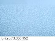 Купить «Голубая влажная поверхность с каплями воды», фото № 3300952, снято 4 августа 2010 г. (c) Losevsky Pavel / Фотобанк Лори