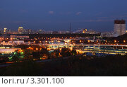 Купить «Москва. Вид с Воробьевых гор», фото № 3301100, снято 11 октября 2010 г. (c) Losevsky Pavel / Фотобанк Лори