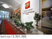 Купить «Интерьер Государственной Думы Российской Федерации», фото № 3301380, снято 8 ноября 2010 г. (c) Losevsky Pavel / Фотобанк Лори