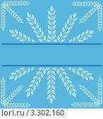 Голубая иллюстрация со снежинкой и местом для текста. Стоковая иллюстрация, иллюстратор Вероника Румко / Фотобанк Лори
