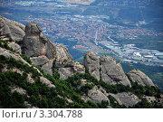 Вид с гор Монтсеррат. Стоковое фото, фотограф Елена Полозова / Фотобанк Лори