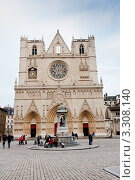 Купить «Собор Святого Иоанна Крестителя (Cathedral of St John the Baptist). Лион. Франция», фото № 3308140, снято 17 июня 2019 г. (c) Екатерина Овсянникова / Фотобанк Лори