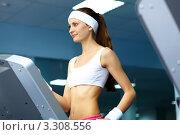 Купить «Девушка занимается в тренажерном зале», фото № 3308556, снято 16 июля 2019 г. (c) Sergey Nivens / Фотобанк Лори