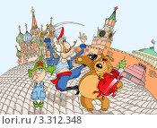 Купить «Москва. Карикатура», иллюстрация № 3312348 (c) Vasiliev Sergey / Фотобанк Лори