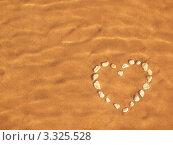 Сердечко из камней под водой на песке. Стоковое фото, фотограф Диана Гарифуллина / Фотобанк Лори