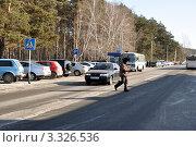 Купить «Заводоуковск. Пешеходный переход», фото № 3326536, снято 25 февраля 2012 г. (c) Александр Тараканов / Фотобанк Лори