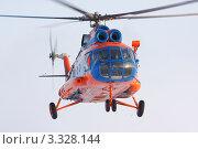 Купить «Вертолет Ми-8 в воздухе», фото № 3328144, снято 18 февраля 2012 г. (c) Пьянков Александр / Фотобанк Лори
