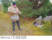 Купить «Охотник и тетерев-косач», фото № 3328520, снято 8 октября 2010 г. (c) макаров виктор / Фотобанк Лори