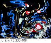 Абстрактный фон из разноцветных разводов. Стоковое фото, фотограф Каменева Лариса / Фотобанк Лори