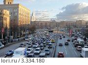 Купить «Вечерняя пробка на Ленинградском шоссе», фото № 3334180, снято 15 ноября 2011 г. (c) Андрей Ерофеев / Фотобанк Лори