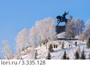 Купить «Памятник Салавату Юлаеву в Уфе — самая большая конная статуя в России», фото № 3335128, снято 3 января 2012 г. (c) Рамиль Юсупов / Фотобанк Лори