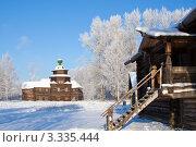 Купить «Зимний пейзаж, Музей деревянного зодчества в Костроме», фото № 3335444, снято 24 января 2007 г. (c) ElenArt / Фотобанк Лори