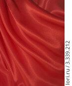 Купить «Красный шелковый фон - атлас с драпировкой», фото № 3339212, снято 29 октября 2011 г. (c) Светлана Ильева (Иванова) / Фотобанк Лори