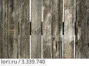 Купить «Некрашеный деревянный забор. Фон», фото № 3339740, снято 10 марта 2012 г. (c) Зобков Георгий / Фотобанк Лори