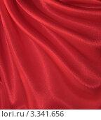 Купить «Красный шелковый фон - атлас с драпировкой», фото № 3341656, снято 29 октября 2011 г. (c) Светлана Ильева (Иванова) / Фотобанк Лори