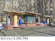 Купить «Кремлевская АЗС на улице Волхонка», эксклюзивное фото № 3343744, снято 10 марта 2012 г. (c) Алёшина Оксана / Фотобанк Лори