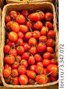 Купить «Красные помидоры. Вид сверху», фото № 3347072, снято 20 января 2012 г. (c) Лямзин Дмитрий / Фотобанк Лори