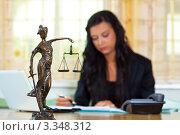 Купить «Юрист за рабочим столом», фото № 3348312, снято 1 ноября 2018 г. (c) Erwin Wodicka / Фотобанк Лори