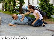 Купить «У мужчины сердечный приступ», фото № 3351008, снято 21 июля 2018 г. (c) Erwin Wodicka / Фотобанк Лори