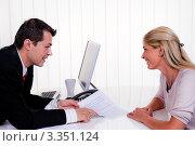 Купить «Девушка на консультации у специалиста», фото № 3351124, снято 16 июля 2019 г. (c) Erwin Wodicka / Фотобанк Лори