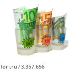 Евро в сопках на белом фоне. Стоковое фото, фотограф Олеся Довженко / Фотобанк Лори