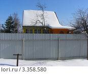 Купить «Дачный домик. Ногинский район. Московская область», эксклюзивное фото № 3358580, снято 10 марта 2012 г. (c) lana1501 / Фотобанк Лори
