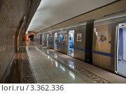 Купить «Новая станция метро, Алма-Ата, Казахстан», фото № 3362336, снято 15 января 2012 г. (c) Наталья Чуб / Фотобанк Лори