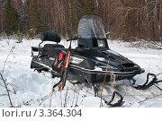 Черный снегоход (2011 год). Редакционное фото, фотограф Стругов Сергей Анатольевич / Фотобанк Лори