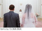 Молодожены на церемонии бракосочетания. Стоковое фото, фотограф Кекяляйнен Андрей / Фотобанк Лори