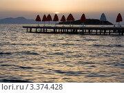 Закат на море. Стоковое фото, фотограф Наталья Гаврилястая / Фотобанк Лори