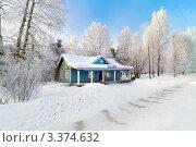 Купить «Автостанция поселка Калевала, Карелия», фото № 3374632, снято 7 марта 2012 г. (c) Fro / Фотобанк Лори