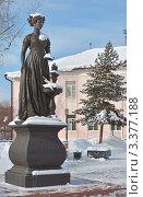 Купить «Памятник женам декабристов в снегу. Иркутск», фото № 3377188, снято 16 февраля 2012 г. (c) Юлия Батурина / Фотобанк Лори