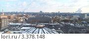 Купить «Панорама Даниловского рынка, Московского монетного двора и Даниловской площади весной», фото № 3378148, снято 25 марта 2012 г. (c) SevenOne / Фотобанк Лори