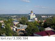 Купить «Вид на город Елец и Вознесенский собор», фото № 3390184, снято 7 августа 2011 г. (c) Валерий Ситников / Фотобанк Лори